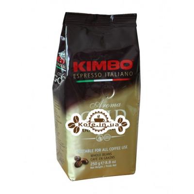 Кофе KIMBO Aroma Gold 100% Arabica зерновой 250 г (8002200102135)