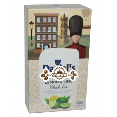 Чай Daniel's Lemon Lime Black Tea 100 г к/п (4796017690551)