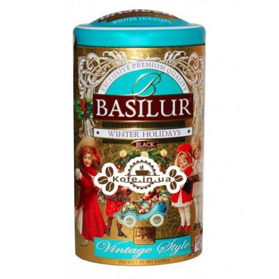 Чай BASILUR Winter Holidays Зимние Каникулы - Винтаж 100 г ж/б (4792252935259)