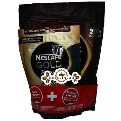 Кофе Nescafe Gold растворимый 210 г эконом. упаковка + Nescafe Gold Barista растворимый 60 г эконом. упаковка В ПОДАРОК!