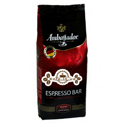 Кофе Ambassador Espresso Bar зерновой 1 кг Германия (4051146001044)