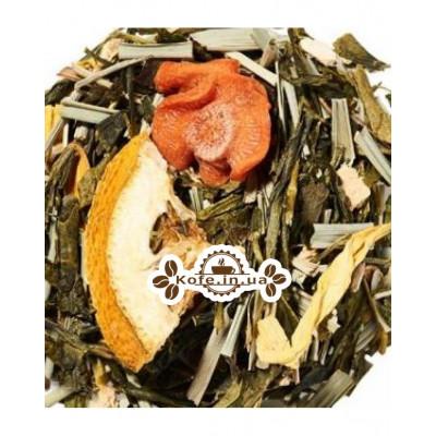Имбирь-Лимонграс зеленый ароматизированный чай Чайна Країна 100 г п/п