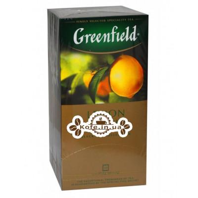 Чай Greenfield Lemon Spark Чорний з Лимоном 25 х 1,5 г (4823096802282)