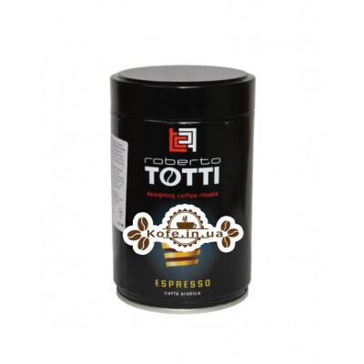 Кофе Roberto Totti Espresso молотый 250 г ж/б