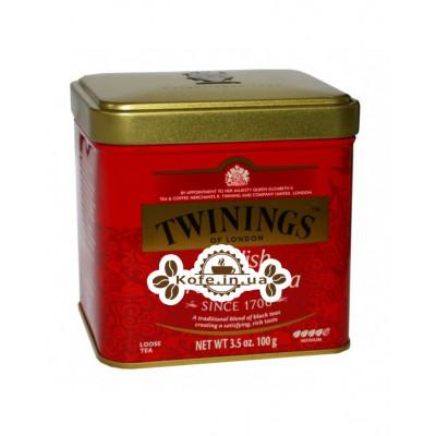 Чай TWININGS English Breakfast Англійська Сніданок 100 г ж / б (070177029630)
