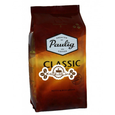 Кофе Paulig Classic зерновой 1 кг (6411300164783)