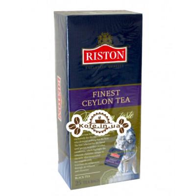 Чай Riston Finest Ceylon Tea Файнест Цейлонський 25 х 1,5 г