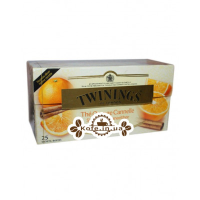 Чай TWININGS the Saveur Orange Cannelle Чорний Апельсин Кориця 25 х 2 г (5055953900551)