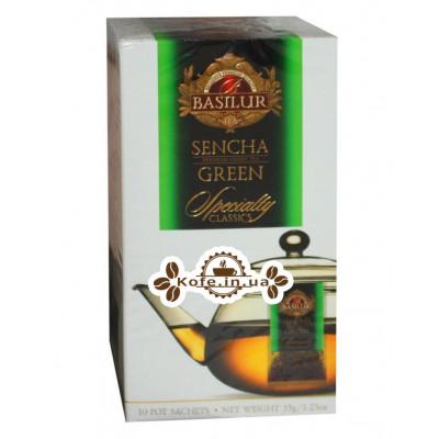 Чай BASILUR Sencha Сенча - Обрана Класика 10 х 3,5 г (4792252932340)