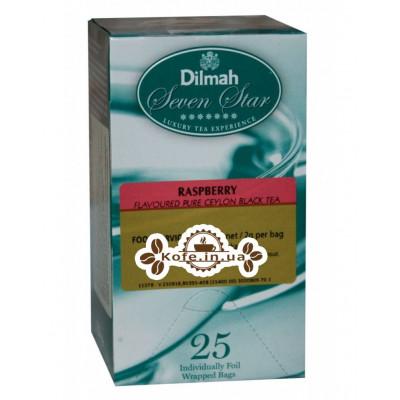 Чай Dilmah Seven Star Black Tea Raspberry Малина 25 x 2 г