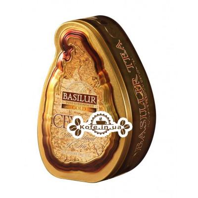 Чай BASILUR Gold Золотий - Чайний Острів 100 г ж / б (4792252100862)