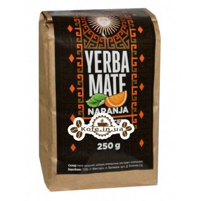 Мате Yerba Mate Naranja Апельсин етнічний чай 250 г к / п