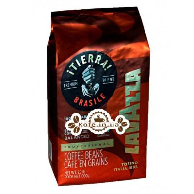 Кофе Lavazza Tierra Brazile 100% Arabica Balanced зерновой 1 кг (8000070052741)