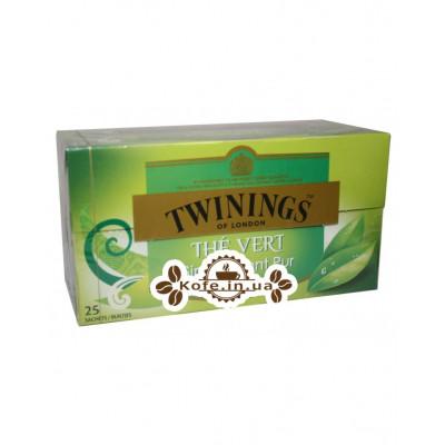 Чай TWININGS THE VERT Зелений Класичний 25 х 1,5 г (5055953902463)