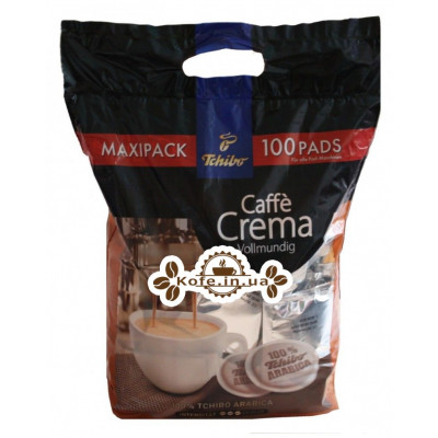 Кофе Tchibo Caffe Crema Vollmundig в монодозах (чалдах, таблетках) 100 х 7,4 г (4046234838053)