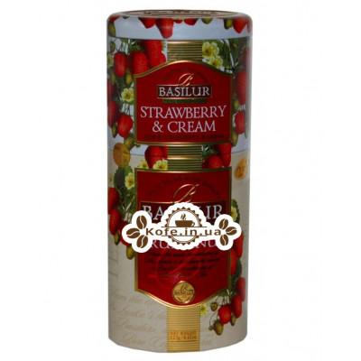 Чай BASILUR Strawberry and Cream Ruhunu Клубника со Сливками Рухуну - Цветы и Фрукты Цейлона 125 г ж/б (4792252201187)