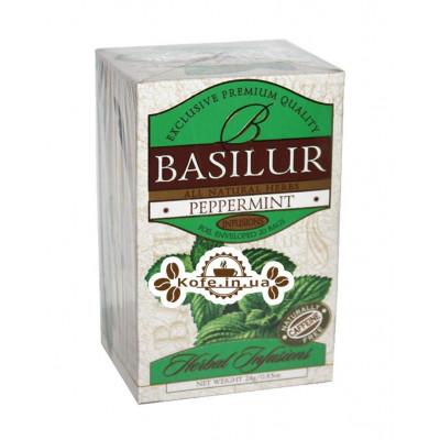 Чай BASILUR Peppermint Перечная Мята - Травяные Сборы 20 х 2 г (4792252922785)