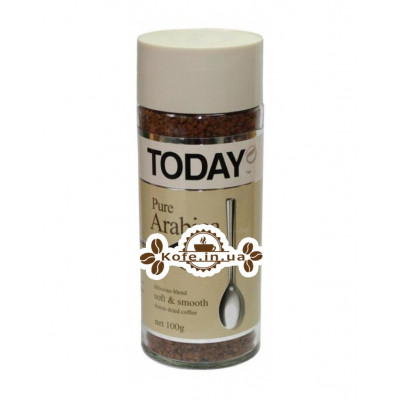 Кофе Today Pure Arabica растворимый 100 г ст. б. (5014776102061)