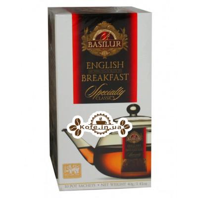 Чай BASILUR English Breakfast Англійська Сніданок - Обрана Класика 10 х 4 г (4792252932326)