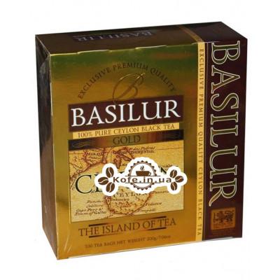 Чай BASILUR Gold Золотий - Чайний Острів 100 х 2 г (4792252925939)