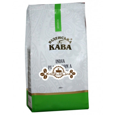 Кава Віденська Кава Арабіка Індія Плантейшн А зернова 250 г (4820000371193)