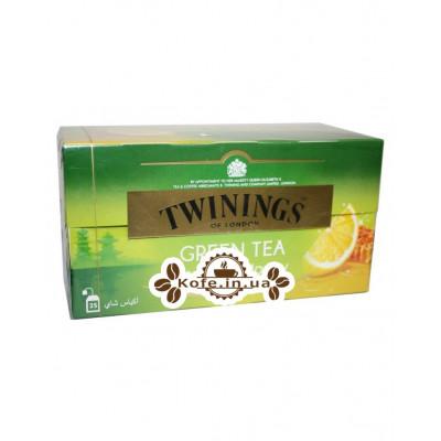 Чай TWININGS Green Tea Lemon Honey Зеленый Лимон Мёд 25 х 1,5 г (070177173807)