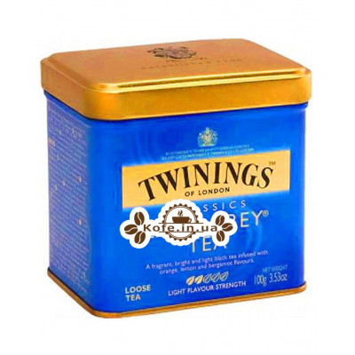 Чай TWININGS Lady Grey Леди Грей 100 г ж/б (070177086671)