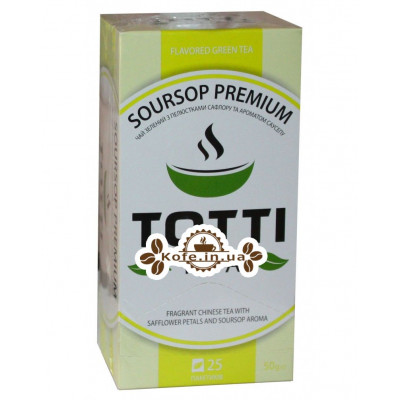Чай Totti Soursop Premium Саусеп Преміум 25 x 2 г (8719325127065)