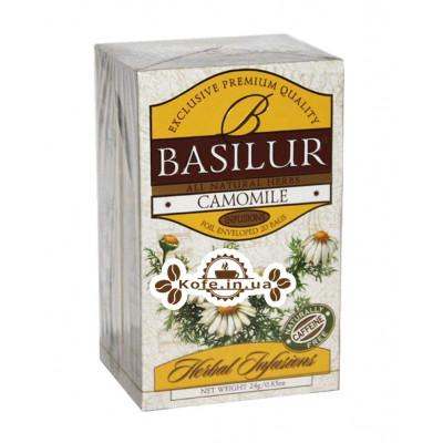 Чай BASILUR Camomile Ромашка - Травяные Сборы 20 х 2 г (4792252922792)