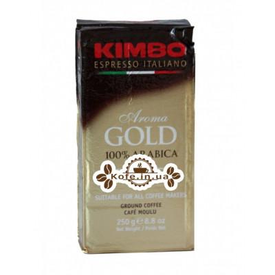 Кофе KIMBO Aroma Gold 100% Arabica молотый 250 г (8002200102111)