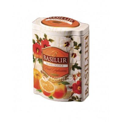 Чай BASILUR Blood Orange Красный Апельсин - Фруктовые Коктейли 100 г ж/б (4792252918047)