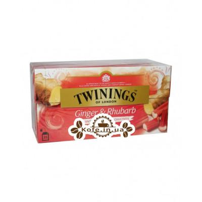 Чай TWININGS Ginger Rhubarb Імбир Ревінь 25 х 2 г (070177171438)