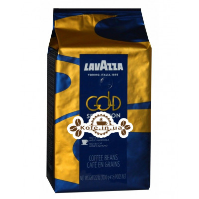 Кава Lavazza Espresso Gold Selection зернова 1 кг (8000070043206)