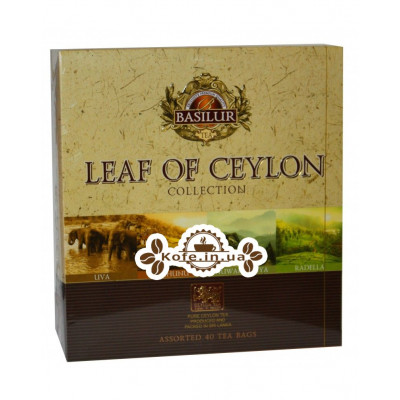 Чай BASILUR Assorted Pure Ceylon Tea Ассорти - Лист Цейлона 40 х 2 г (4792252934702)