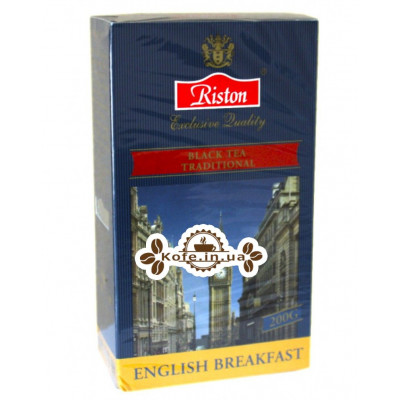 Чай Riston English Breakfast Англійська Сніданок 200 г к / п (4792156003795)