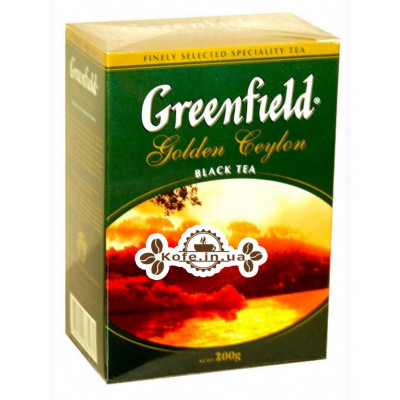 Чай Greenfield Golden Ceylon Цейлон 200 г к / п (4823096801070)