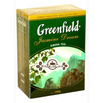 Чай Greenfield Jasmine Dream Зеленый с Жасмином 100 г к/п (4823096801186)