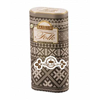 Чай BASILUR Folk Black White Фолк Черное и Белое - Вязаная 100 г ж/б (4792252918139)