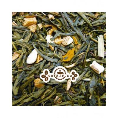 Зелений з Імбиром зелений ароматизований чай Країна Чаювання 100 г ф / п
