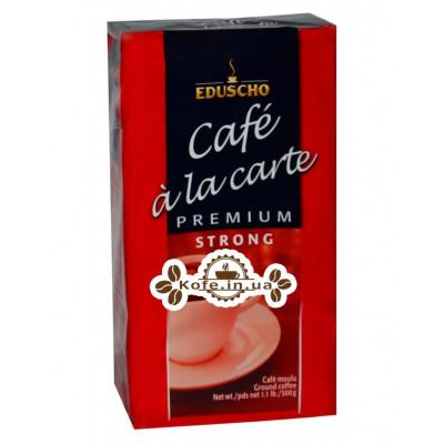 Кава EDUSCHO Cafe a la Carte Premium Strong мелена 500 г (40060670883422)