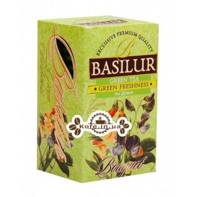 Чай BASILUR Green Freshness Зелена Свіжість - Букет 20 х 1,5 г (4792252002166)