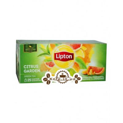 Чай Lipton Citrus Garden Цитрусовий Сад 25 х 1,4 г (4823084200533)