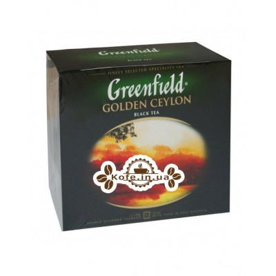 Чай Greenfield Golden Ceylon Цейлон 50 х 2 г (4823096806693)