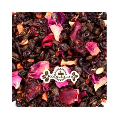 Гранатовий Квітка зелений ароматизований чай Країна Чаювання 100 г ф / п