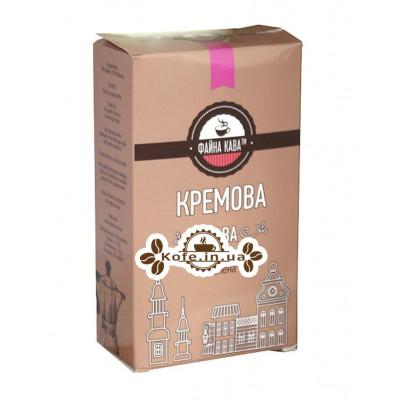 Кофе ФАЙНА КАВА Кремова Кава молотый 250 г (4820195670507)