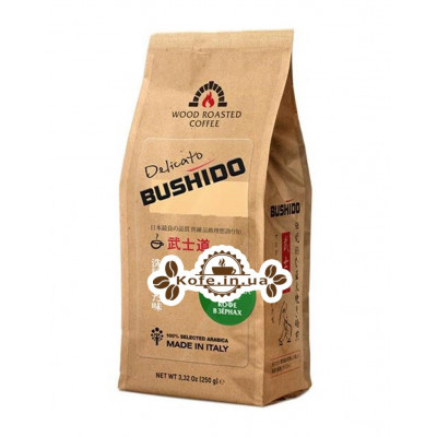 Кофе Bushido Delicato зерновой 250 г (5060367340138)