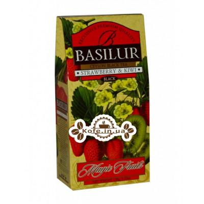 Чай BASILUR Strawberry Kiwi Клубника Киви - Волшебные Фрукты 100 г к/п (4792252100343)