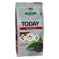 Кава Today Arabica Premium Blend № 8 зернова 250 г (5060300570431)