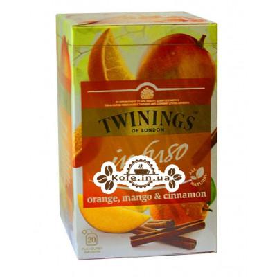 Чай TWININGS Infuso Orange Mango Cinnamon Апельсин Манго Корица 20 х 2 г (070177177720)
