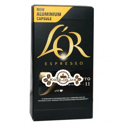 Кофе L'OR Nespresso Espresso Ristretto в капсулах 10 х 5,2 г (8711000360057)